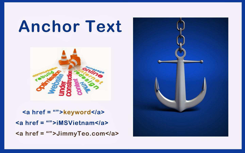 Anchor Text trong SEO năm - Tối ưu hóa văn bản neo