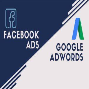 quảng cáo facebook - google
