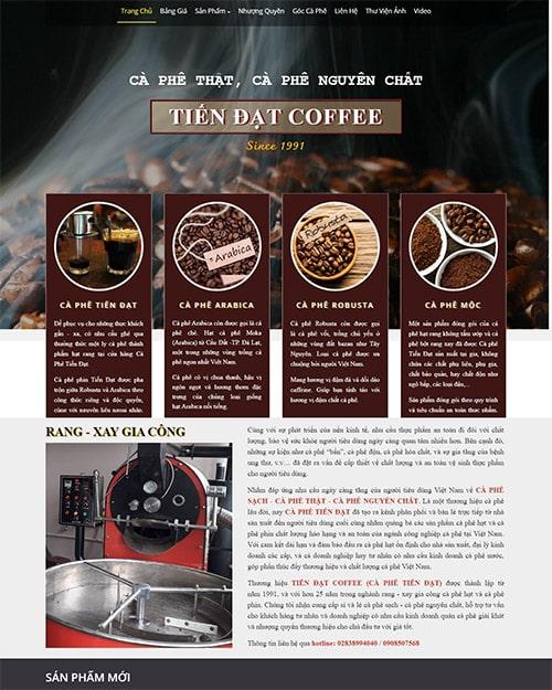 giao diện cà phê
