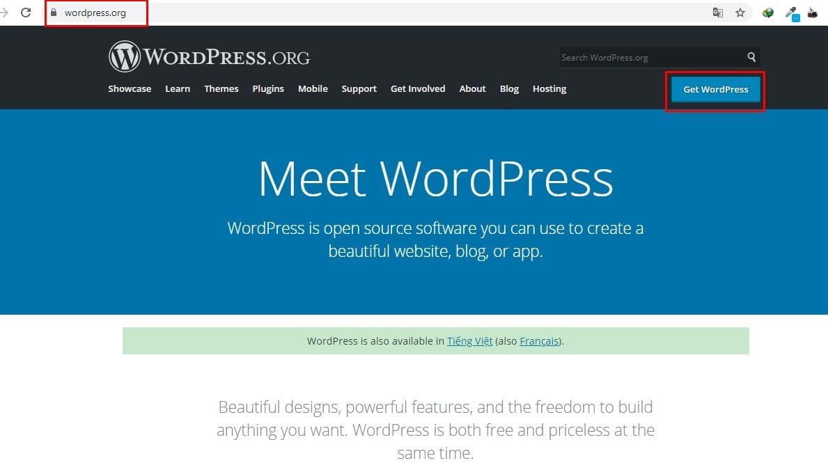 Cài đặt thủ công wordpress