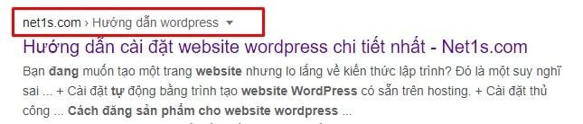 Cách hiển thị các liên kết điều hướng Breadcrumb trong WordPress với plugin Breadcrumb NavXT